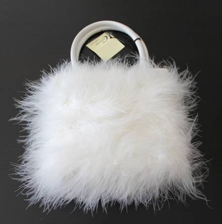Fluffy White Bag (Shop Soiled Inside Hence Price)