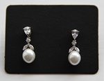 White Pearl Wedding Earring