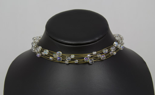 Image of AB Crystal Choker on Eight Gold Wires